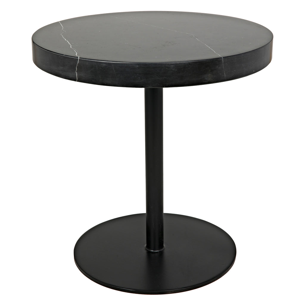 Noir Ford Stone Top Side Table