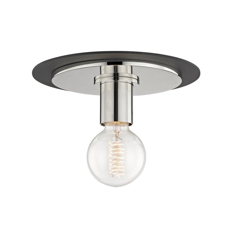 Mitzi Milo Polished Nickel Flush Ceiling Mount
