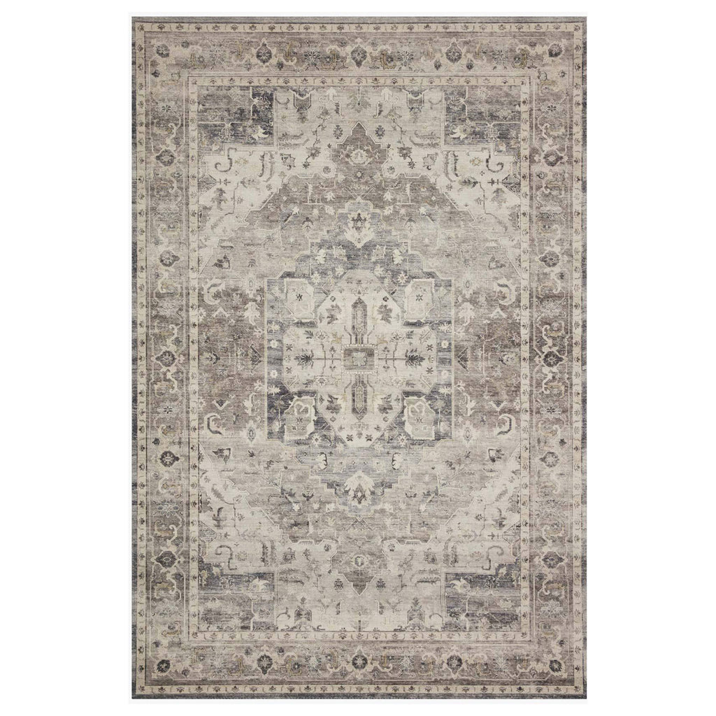 Loloi II Hathaway Steel/Ivory Power Loomed Rug