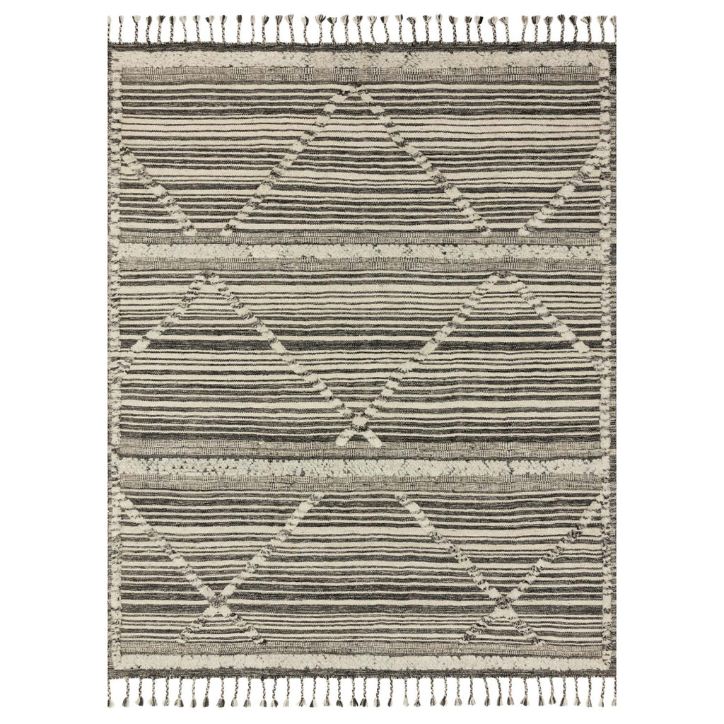 Loloi Iman Ivory/Charcoal Hand Knotted Rug
