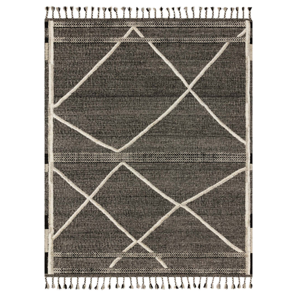 Loloi Iman Beige/Charcoal Hand Knotted Rug