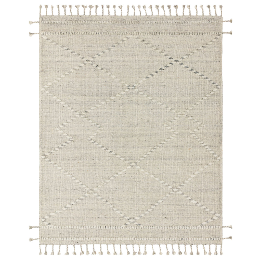 Loloi Iman Ivory/Light Gray Hand Knotted Rug