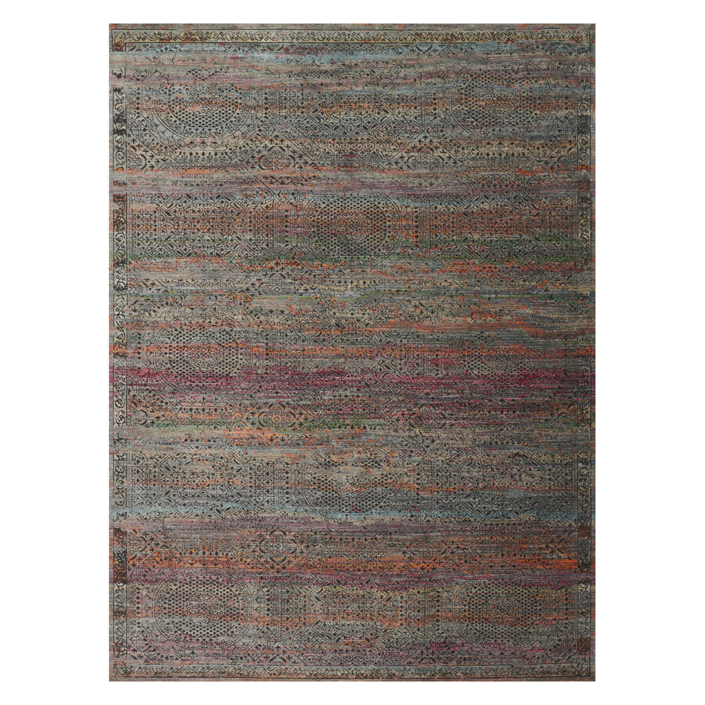 Loloi Javari Charcoal/Sunset Power Loomed Rug