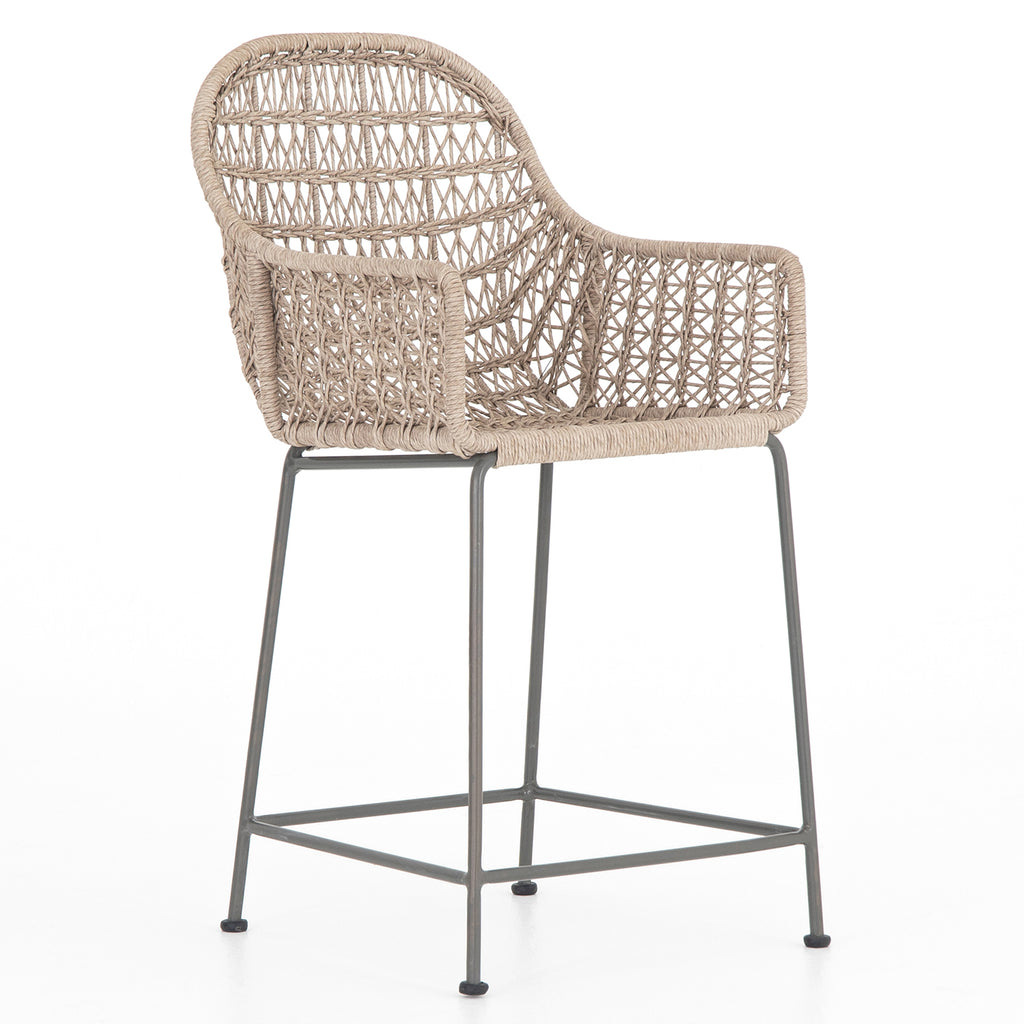 Four Hands Bandera Outdoor Woven Counter Stool