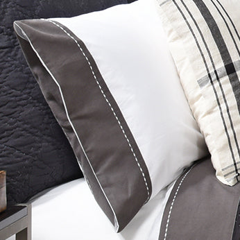Avasa Home Grayson Charcoal Pillowcase Set of 2