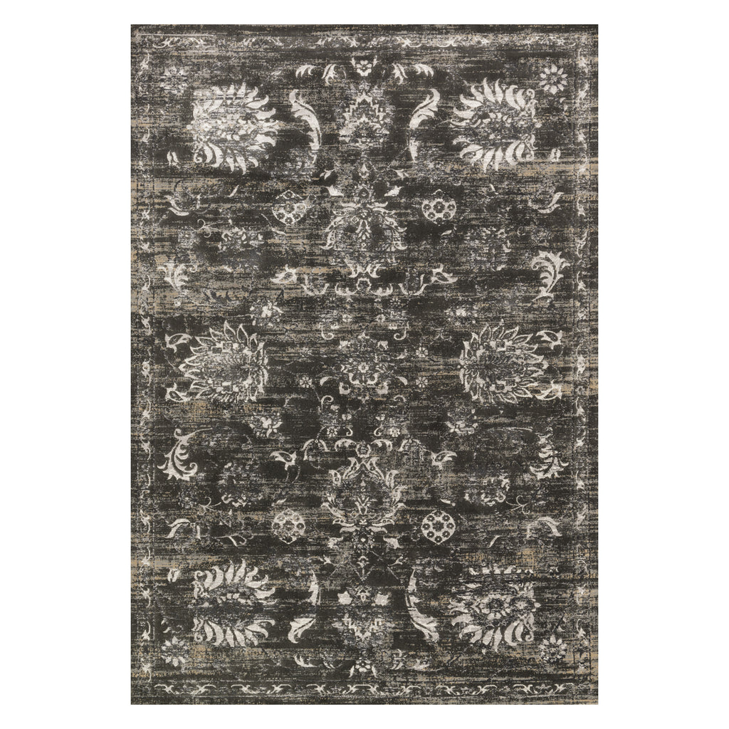 Loloi Kingston Charcoal/Silver Power Loomed Rug