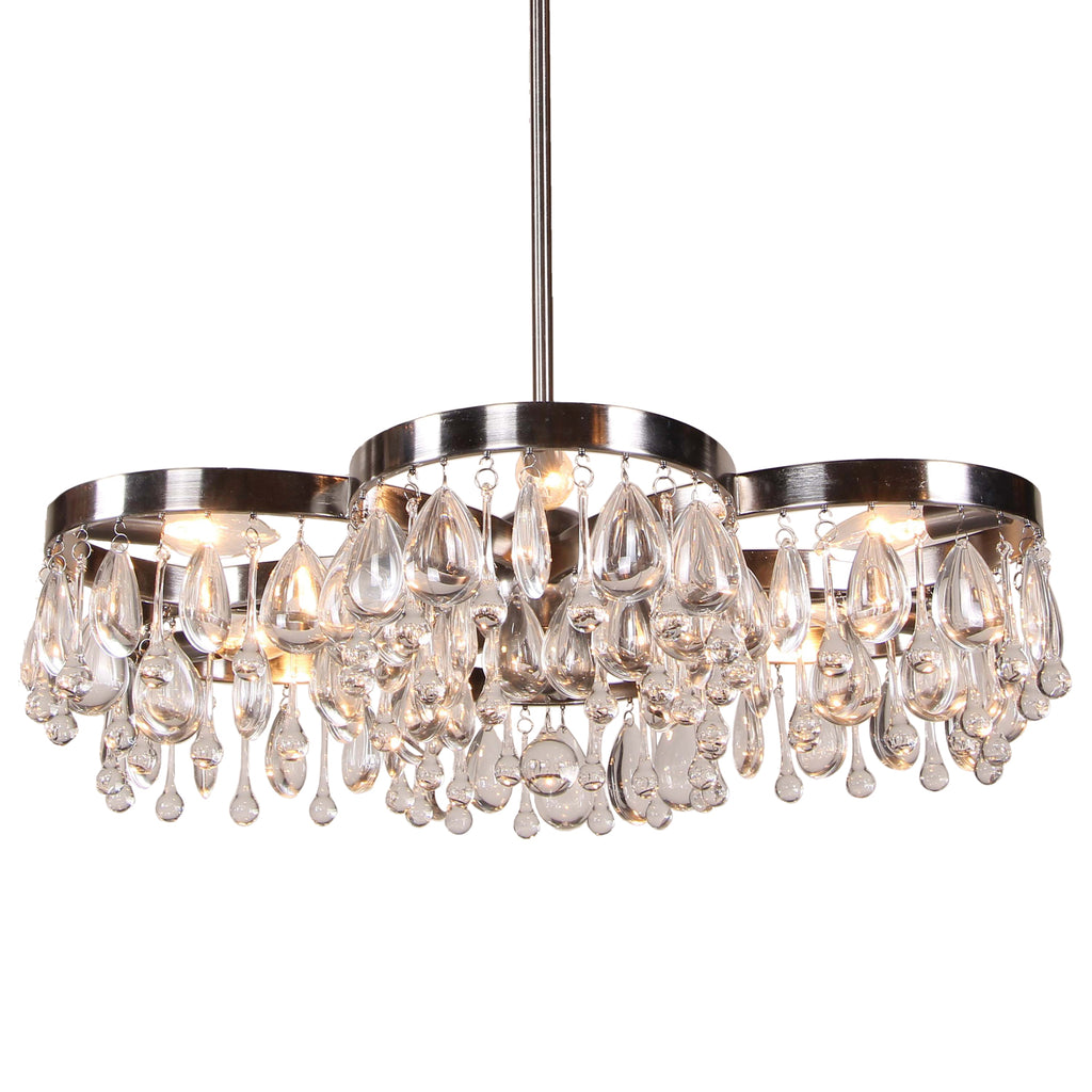 Aidan Gray Modern Daisy Nickel Chandelier