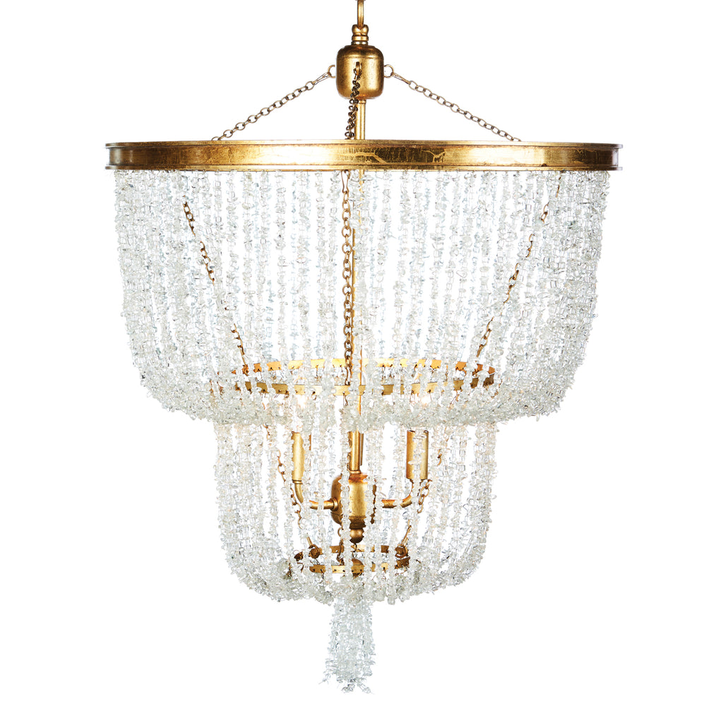 Aidan Gray Stone River Crystal Two Tier Chandelier