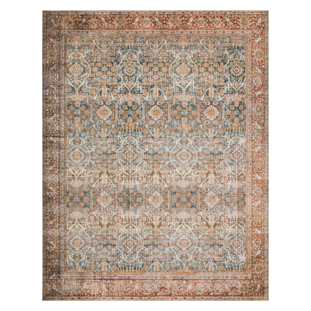 Loloi II Layla Ocean/Rust Power Loomed Rug