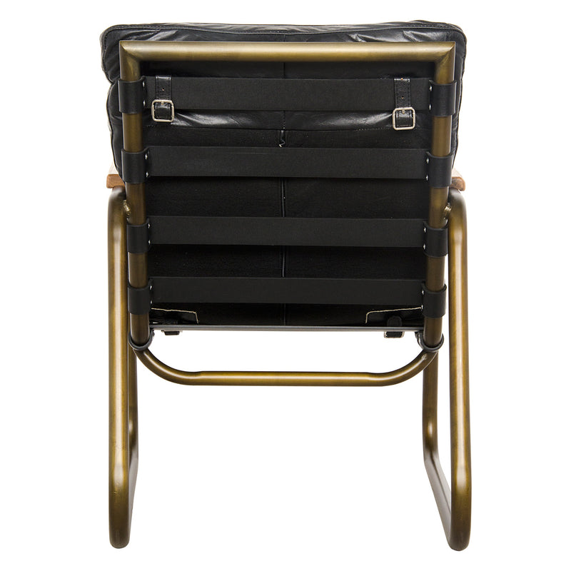 Noir Cowhide Arm Chair
