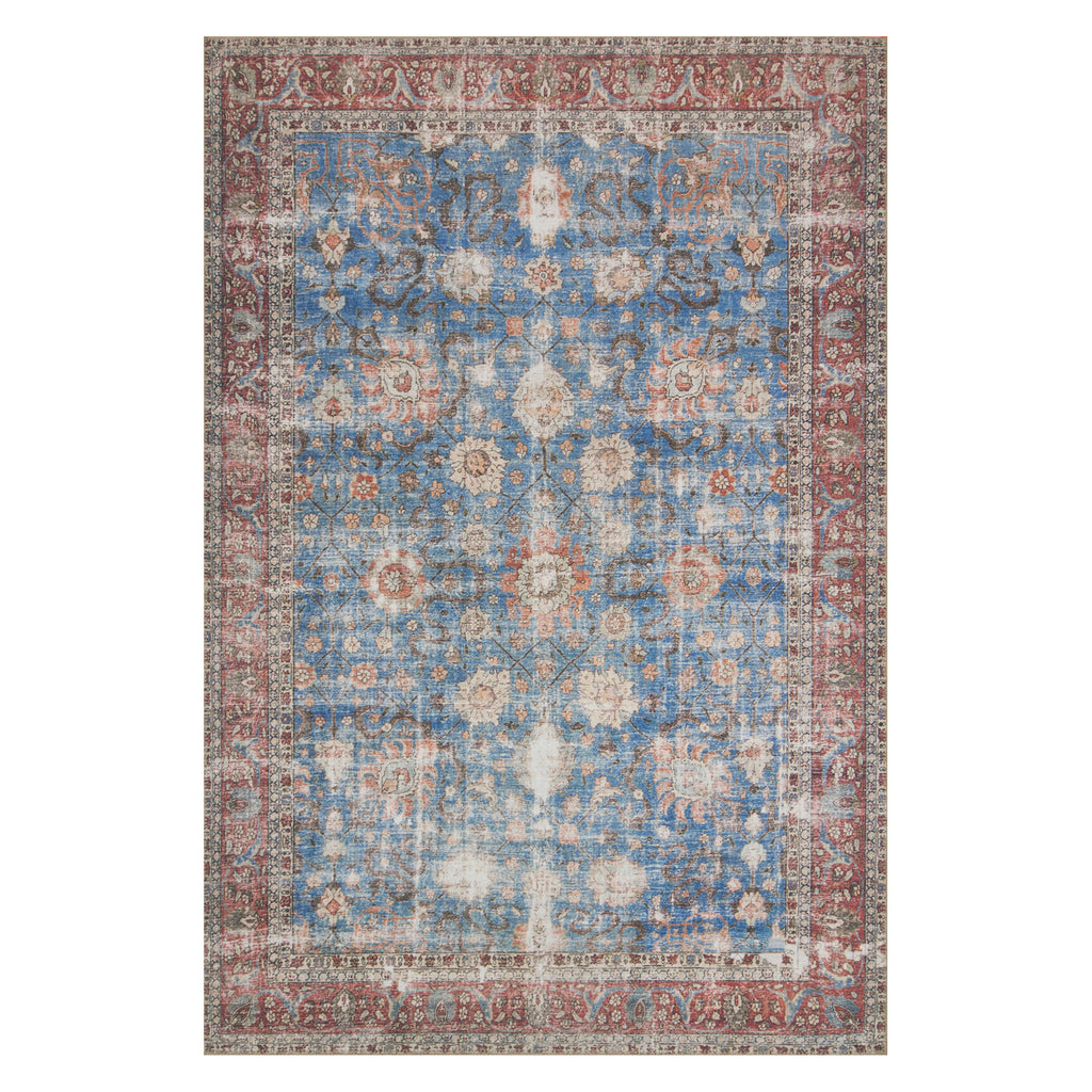 Loloi Loren Blue/Brick Power Loomed Rug