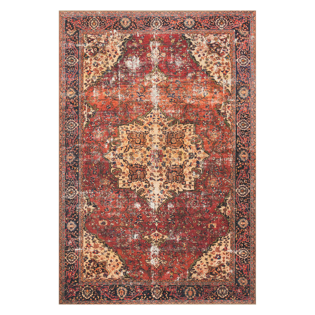 Loloi Loren Red/Navy Power Loomed Rug