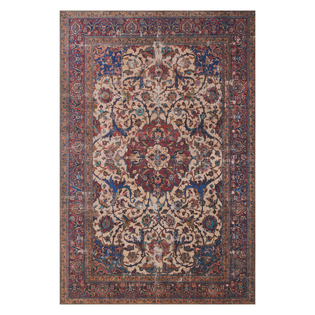 Loloi Loren Sand/Multi Power Loomed Rug