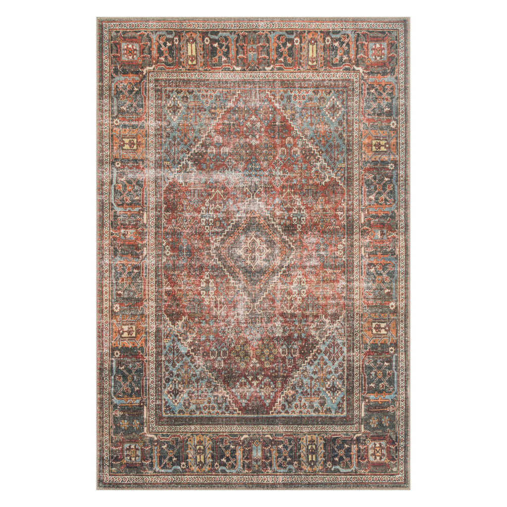 Loloi Loren Brick/Midnight Power Loomed Rug