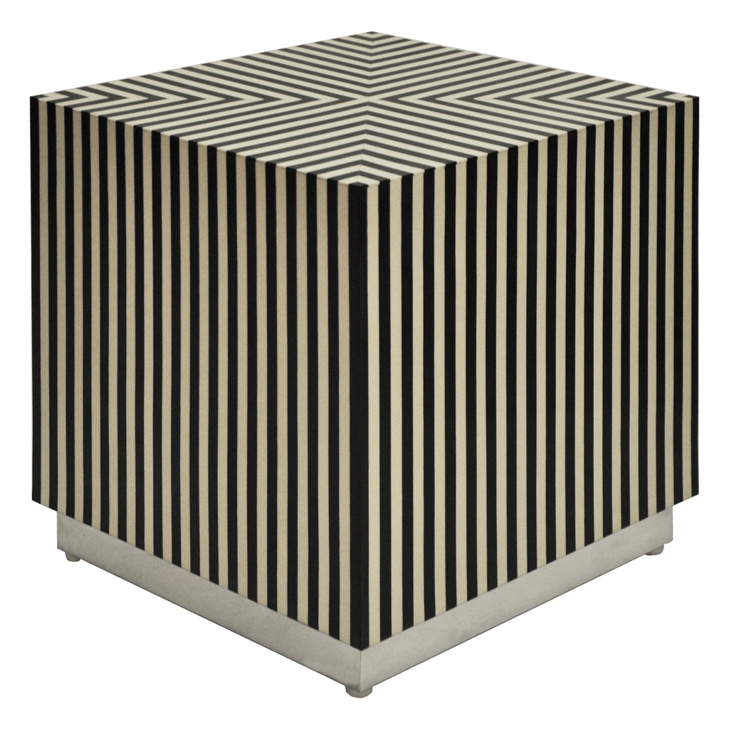 Worlds Away Lyno Cube Side Table - Final Sale