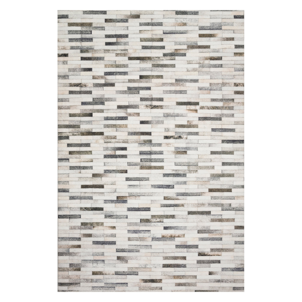 Loloi II Maddox Ivory/Gray Power Loomed Rug