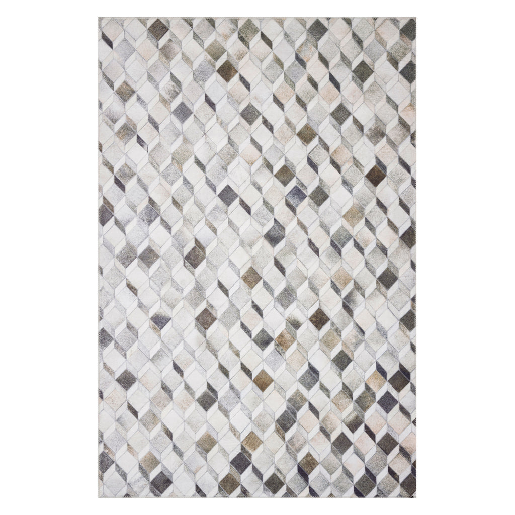 Loloi II Maddox Gray/Mocha Power Loomed Rug