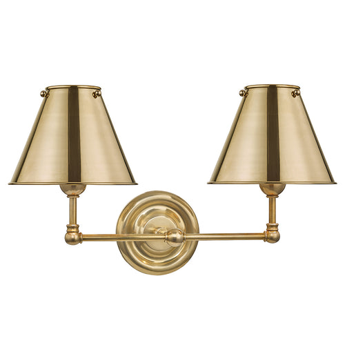 Mark D Sikes Classic No 1 Metal Double Wall Sconce