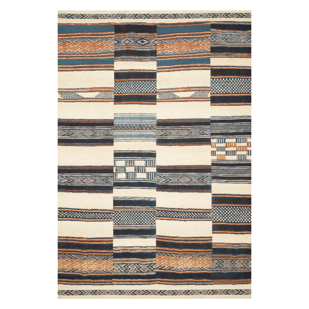Loloi Mika Ivory/Multi Power Loomed Rug