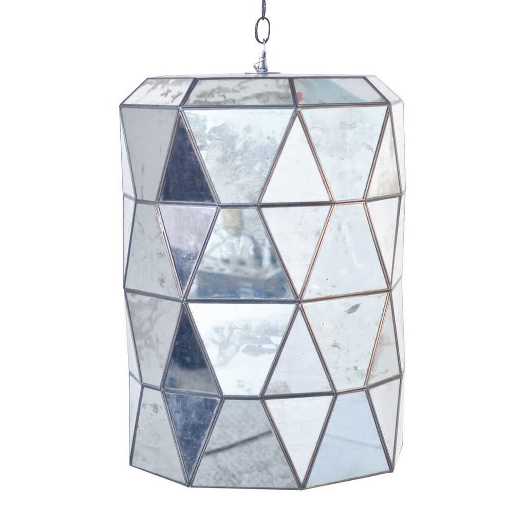 Worlds Away Moderna Antique Mirror Lantern - Final Sale