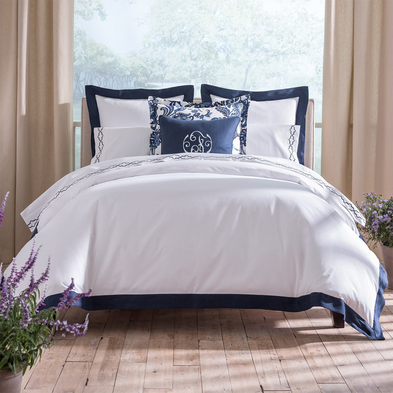 Peacock Alley Mandalay Linen Cuff Duvet Cover