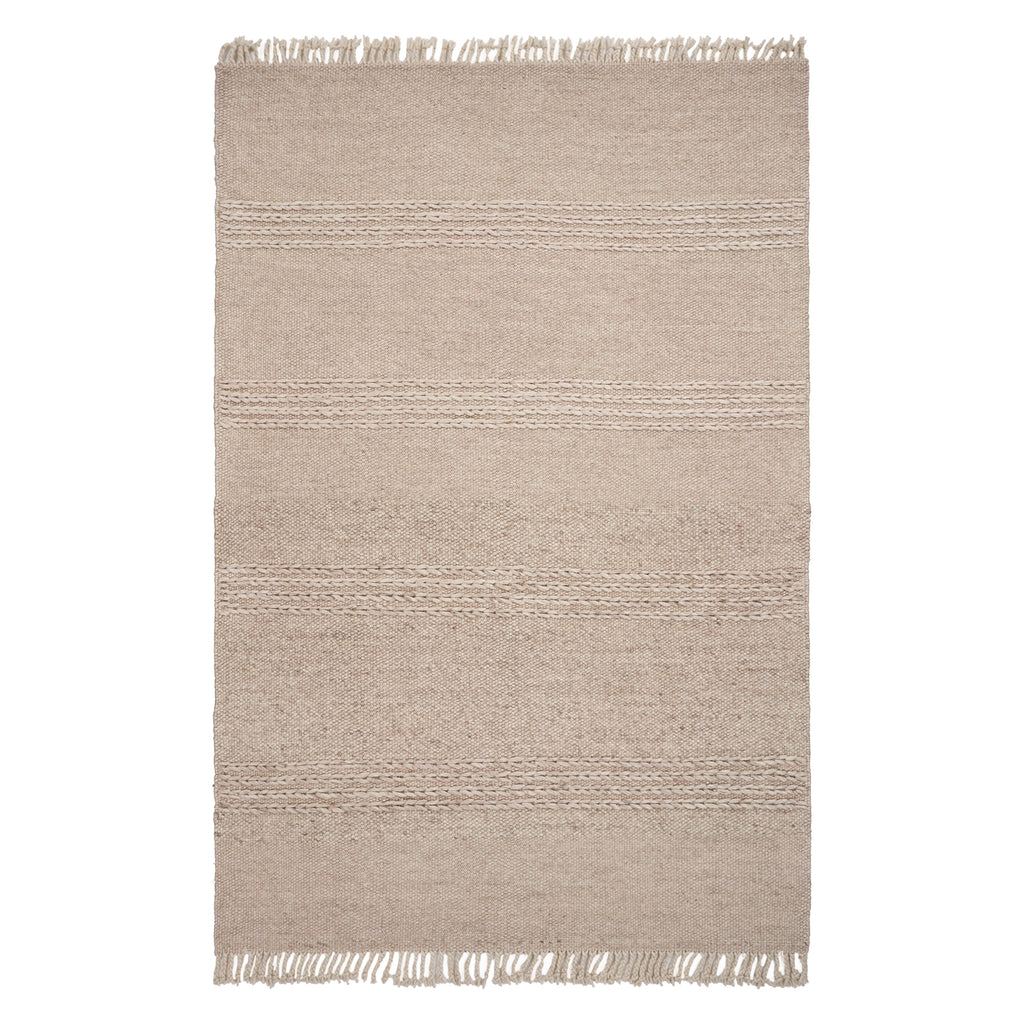 Maui Cable Knit Natural Hand Woven Rug