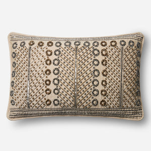 Loloi Embroidered Rings Throw Pillow Set of 2