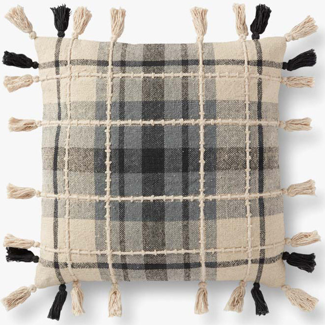Loloi Ruffle Plaid Throw Pillow Set of 2