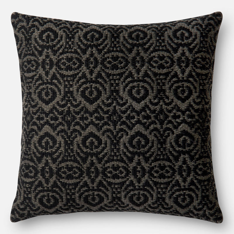 Loloi Damask Black Indoor/Outdoor Pillow Set of 2