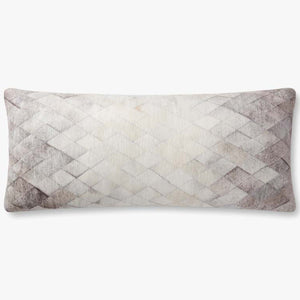 Loloi Laced Cowhide Throw Pillow Set of 2