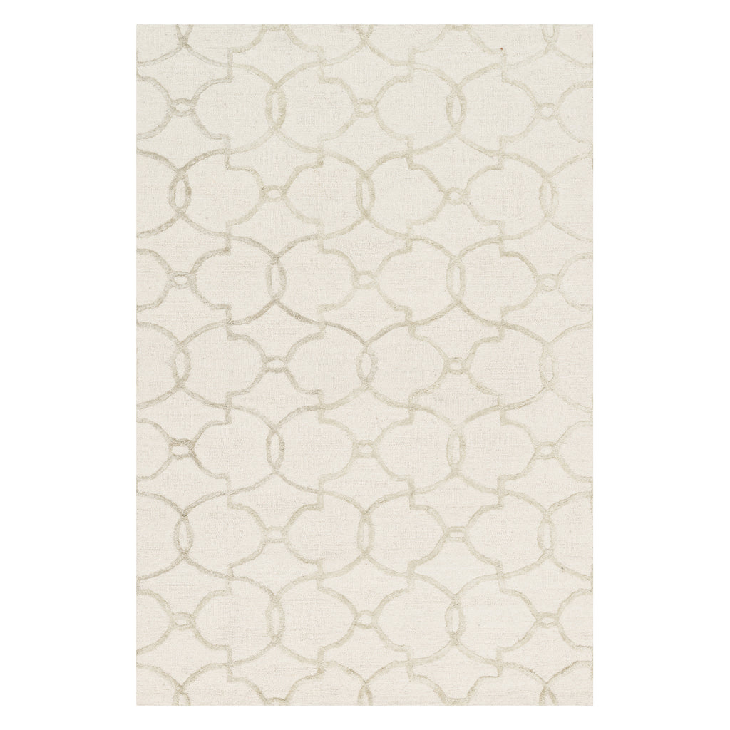 Loloi Panache Ivory/Silver Hooked Rug