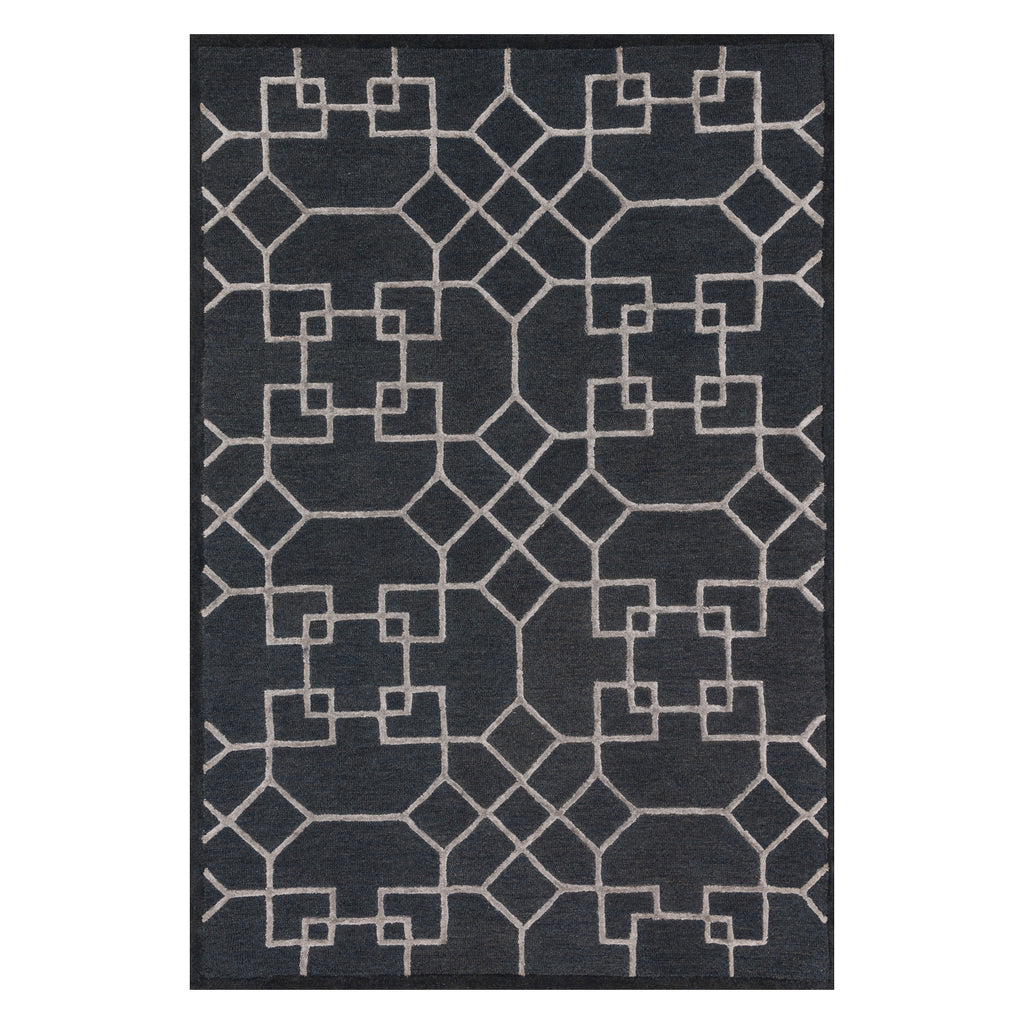 Loloi Panache Charcoal/Silver Hooked Rug
