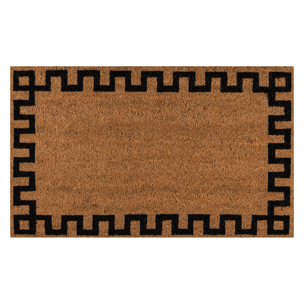 Greek Key Door Mat