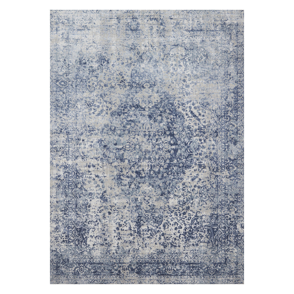 Loloi Patina Blue/Stone Power Loomed Rug