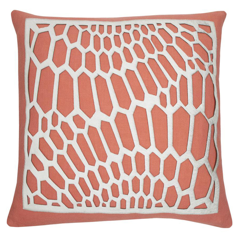 Piper Collection Emerson Coral Throw Pillow