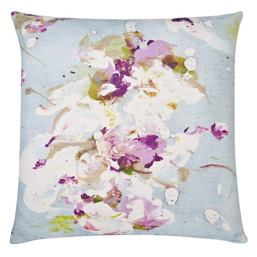 Piper Collection Lilac Love Outdoor Throw Pillow