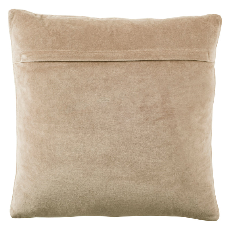 Oxen Herringbone Beige Throw Pillow