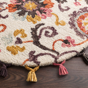 Loloi Remy Ivory/Berry Hooked Rug