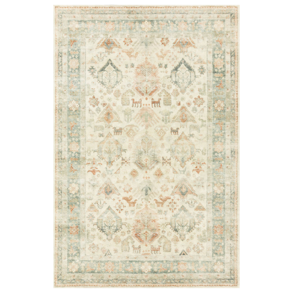 Loloi II Rosette Beige/Multi Power Loomed Rug