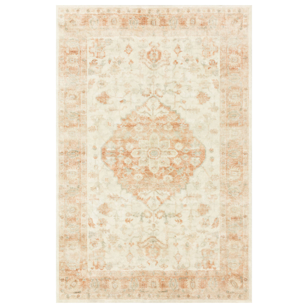 Loloi II Rosette Ivory/Terracotta Power Loomed Rug