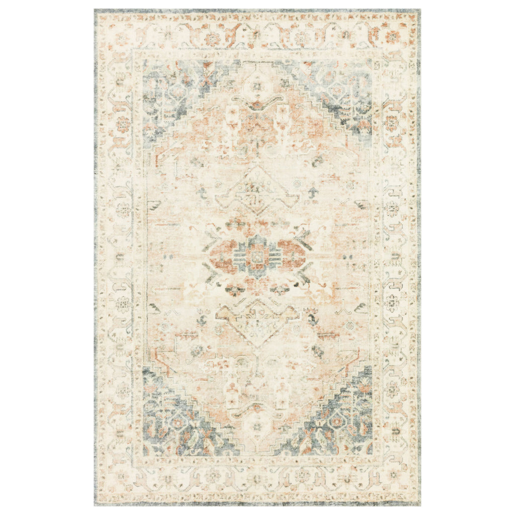 Loloi II Rosette Clay/Ivory Power Loomed Rug