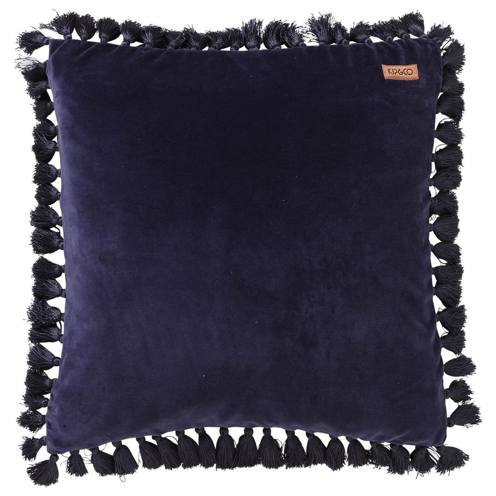 Kip & Co Navy Tassel Throw Pillow