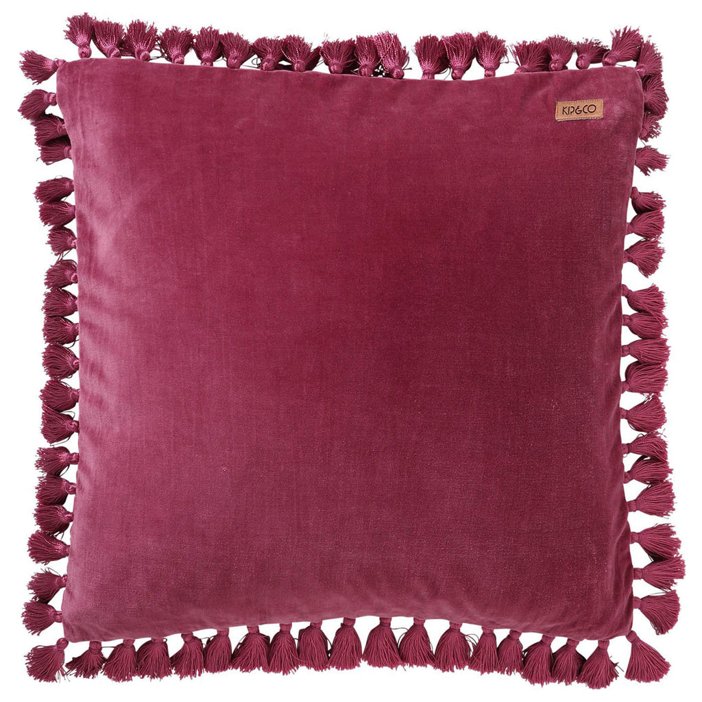 Kip & Co Peony Rose Pink Tassel Throw Pillow