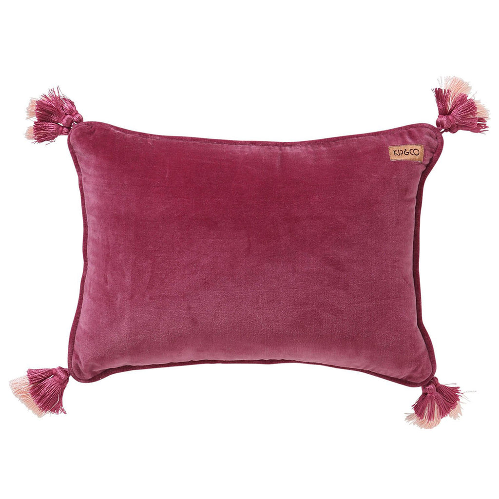 Kip & Co Peony Rose Pink Souk Throw Pillow