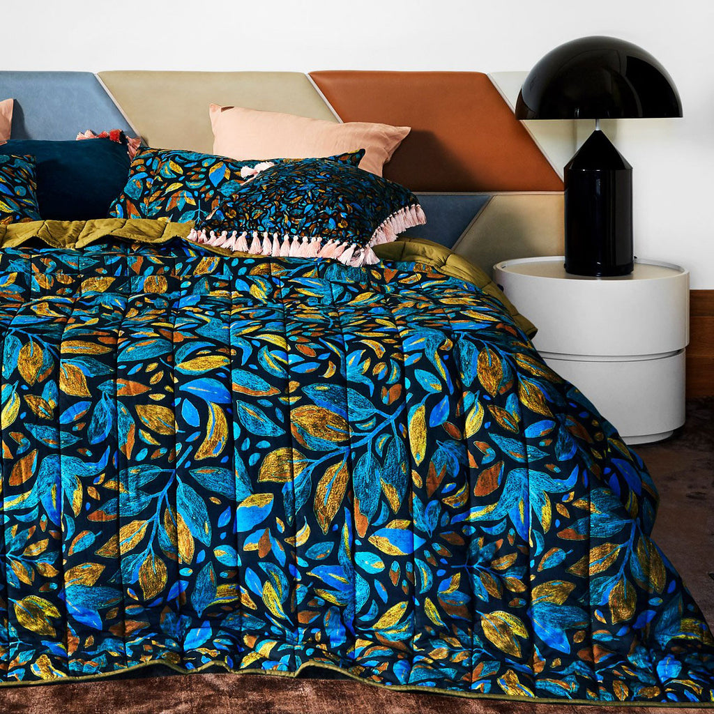 Kip & Co Falling Leaves Bedspread