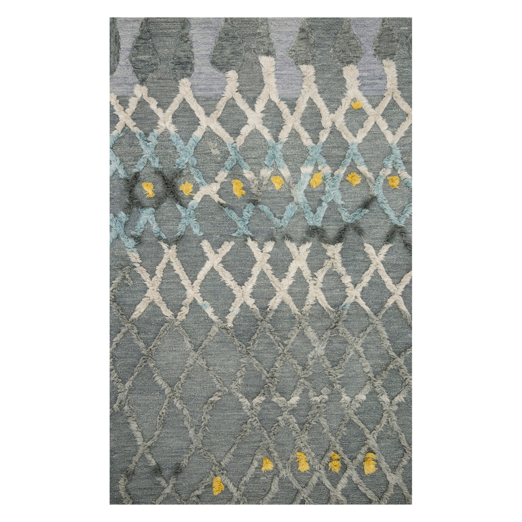 Justina Blakeney × Loloi Symbology Gray/Multi Hand Tufted Rug