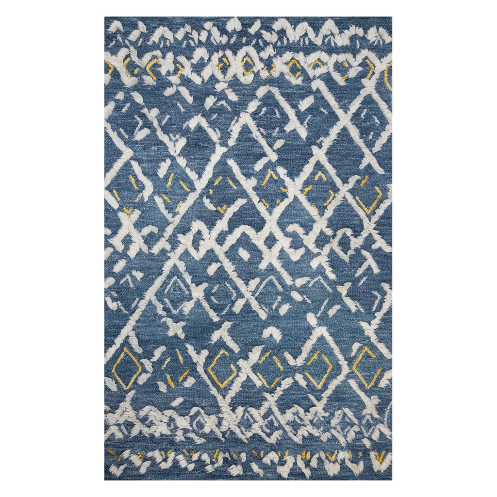 Justina Blakeney × Loloi Symbology Denim/Dove Hand Tufted Rug