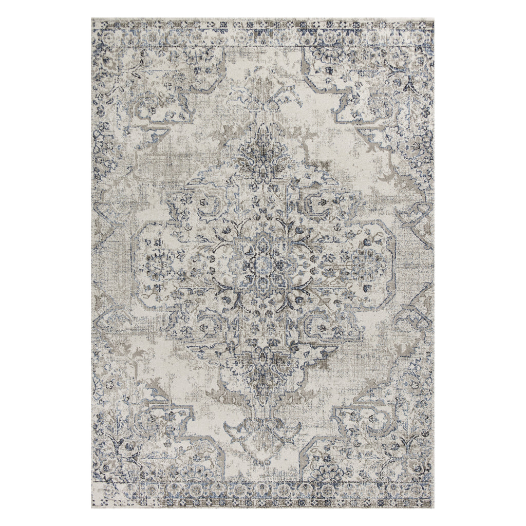 Seville Medallion Ivory Machine Made Rug