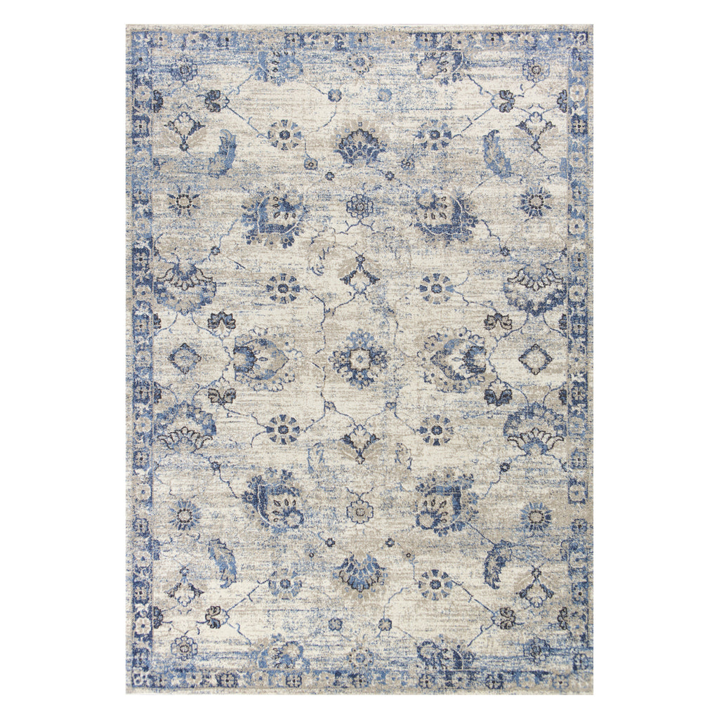 Seville Sutton Gray Machine Made Rug