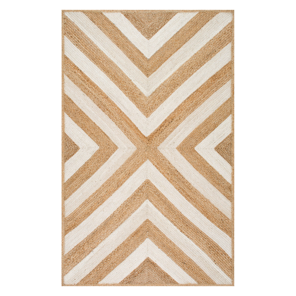 Palmer Chevron Jute Machine Made Rug